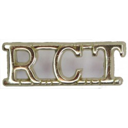 RCT (Royal Corps Of Transport) Pre-1993  Anodised Army Staybrite shoulder title