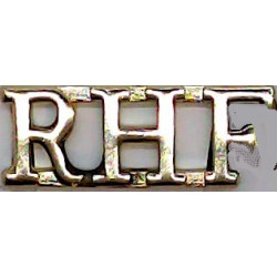 RHF (Royal Highland Fusiliers) Rare  Anodised Army Staybrite shoulder title