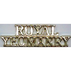 Royal / Yeomanry Post-1971  Anodised Army Staybrite shoulder title