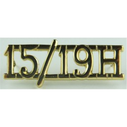 15/19 H (15th/19th The King's Royal Hussars)   Anodised Army Staybrite shoulder title