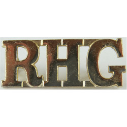 RHG (Royal Horse Guards (The Blues)) Pre-1969 Large  Anodised Army Staybrite shoulder title