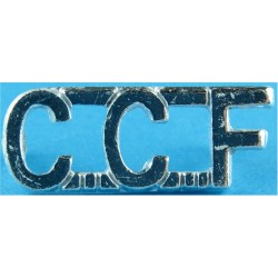 CCF (Combined Cadet Force) Silver Colour  Anodised Army Staybrite shoulder title