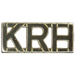 KRH (King's Royal Hussars) Post-1993  Anodised Army Staybrite shoulder title