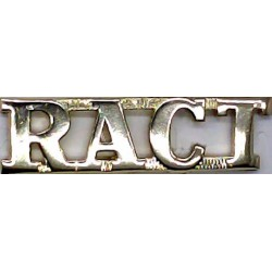 RACT (Royal Australian Corps Of Transport)   Anodised Army Staybrite shoulder title