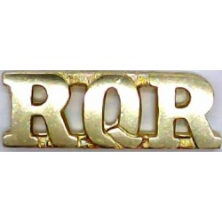 RQR (Royal Queensland Regiment - Australia)   Anodised Army Staybrite shoulder title