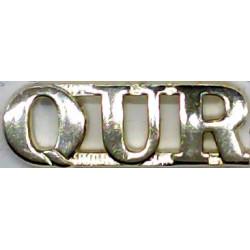 QUR (Queensland University Regiment) Australian Army  Anodised Army Staybrite shoulder title