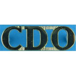 CDO (Australian Army Commando Companies)   Anodised Army Staybrite shoulder title