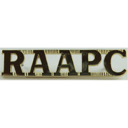 RAAPC (Royal Australian Army Pay Corps)   Anodised Army Staybrite shoulder title