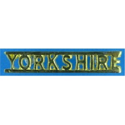 Yorkshire (Yorkshire Volunteers Officers / SNCO's) Straight Letters  Gilt Army metal shoulder title