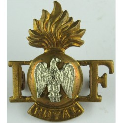 I Grenade F Over 'Royal' (Royal Irish Fusiliers) FR - 1938-1968  Bi-metallic Army metal shoulder title