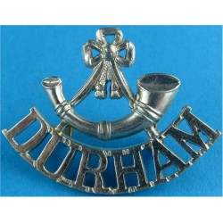 Bugle / Durham (Durham Light Infantry) 1952-1958 Mouthpiece FR White Metal Army metal shoulder title