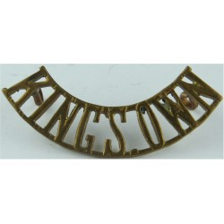 King's Own (King's Own Royal Regiment (Lancaster)) 1905-1959  Brass Army metal shoulder title
