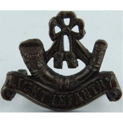 Bugle / Light Infantry    (Officers') Mouthpiece FR  Bronze Army metal shoulder title