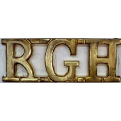 RGH (Royal Gloucestershire Hussars)   Brass Army metal shoulder title