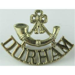 Bugle / Durham (Durham Light Infantry) 1952-1958 Mouthpiece FR  White Metal Army metal shoulder title
