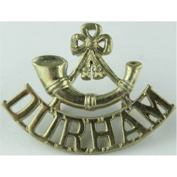 NH (Northumberland Hussars) Circa 1953  Brass Army metal shoulder title