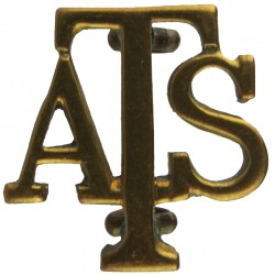 ATS (Auxiliary Territorial Service) 1938-1949  Brass Army metal shoulder title