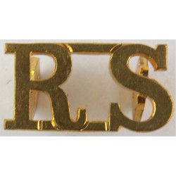 RS (Royal Scots (The Royal Regiment)) Post-1921  Brass Army metal shoulder title