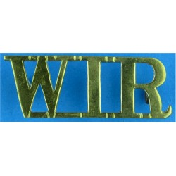 PWO / Yorkshire (PWO Regiment Of Yorkshire) Post-1994 - Curved Brass Army metal shoulder title