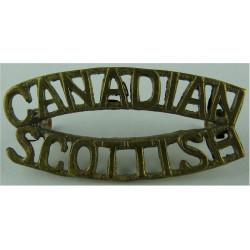 Canadian / Scottish   Brass Army metal shoulder title
