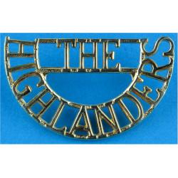 The / Highlanders (The Highlanders) 1994-2006  Gilt Army metal shoulder title