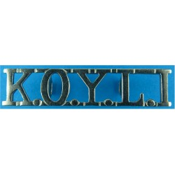 KOYLI (King's Own Yorkshire Light Infantry) No Bugle 1954-1968 - Straight  Chrome-plated Army metal shoulder title