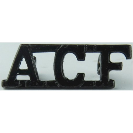 ACF (Army Cadet Force) Black  Brass Army metal shoulder title