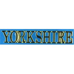 Yorkshire (Yorkshire Regiment Post-2006) Serif Letters  Gilt Army metal shoulder title