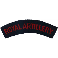 Royal Artillery Red On Blue  Embroidered Sew-on Army cloth shoulder title