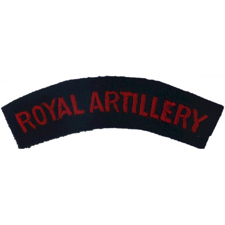 ACF (Army Cadet Force) - Royal Signals Colours White On Navy Blue  Embroidered Sew-on Army cloth shoulder title
