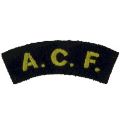 ACF (Army Cadet Force) Yellow On Navy Blue  Embroidered Sew-on Army cloth shoulder title