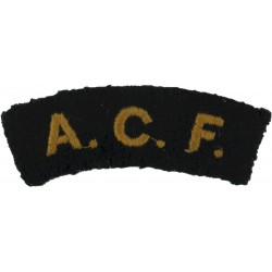 ACF (Army Cadet Force) Yellow / Rifle Green  Embroidered Sew-on Army cloth shoulder title