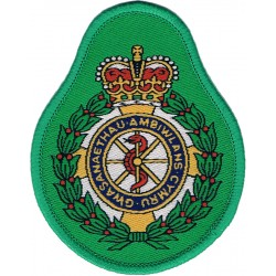 Scottish Ambulance Service Senior Officers - Large Scottish Crown Bullion wire-embroidered Ambulance Insignia
