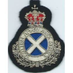 Royal Engineers SNCO's - Grenade White On Khaki Small Embroidered Regimental cloth arm badge