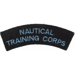 Nautical / Training Corps Blue On Navy Blue  Embroidered Sew-on Army cloth shoulder title