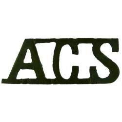 Red Cross Letters 'ACS' Assistant County Secretary WW2 Shoulder Title  Brass Ambulance Insignia