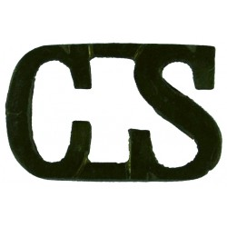 Red Cross Letters 'CS' County Secretary WW2 Shoulder Title  Brass Ambulance Insignia