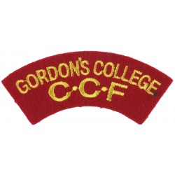 Gordon's College / CCF Yellow On Red  Embroidered Sew-on Army cloth shoulder title