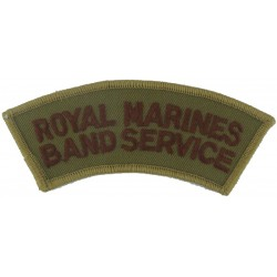 Royal Marines / Band Service Brown On Sand  Embroidered Sew-on Army cloth shoulder title