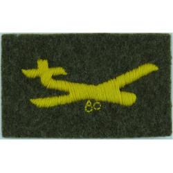 Glider (Staffords / King's Own Royal Border Regiment Yellow On Khaki - FR  Embroidered Regimental cloth arm badge