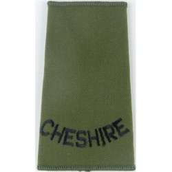 RHF (Royal Highland Fusiliers) Black On Olive Green Embroidered Slip-on Army cloth shoulder title