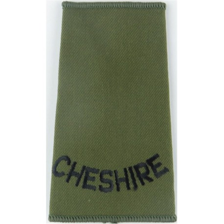 RHF (Royal Highland Fusiliers) - Pre-2006 Black On Olive Green Embroidered Slip-on Army cloth shoulder title