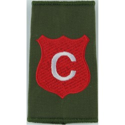 Infantry Training Centre Catterick: Corunna Company Pre-2004  Embroidered Slip-on Army cloth shoulder title
