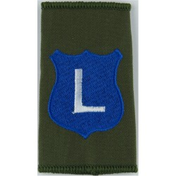 Infantry Training Centre Catterick: Lucknow Company Pre-2004  Embroidered Slip-on Army cloth shoulder title