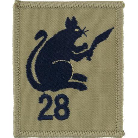 28 (Ambulance) Squadron Group Gurkha Transport Regt   Embroidered Regimental cloth arm badge