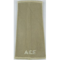 ACF (Army Cadet Force) White On Fawn  Embroidered Slip-on Army cloth shoulder title