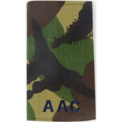 AAC (Army Air Corps) Blue On DPM  Embroidered Slip-on Army cloth shoulder title
