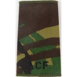 ACF (Army Cadet Force) Black On Camouflage  Embroidered Slip-on Army cloth shoulder title