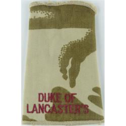 Duke Of / Lancaster's (Duke Of Lancaster's Regiment) Desert Camouflage  Embroidered Slip-on Army cloth shoulder title