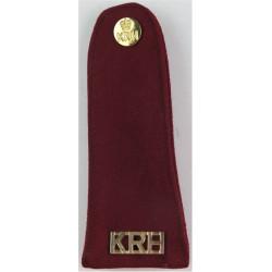 King's Royal Hussars - Barrack Dress Pullover Strap Maroon + KRH +Button  Gilt Slip-on Army cloth shoulder title